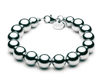 Ball bracelet • 10 mm • silver