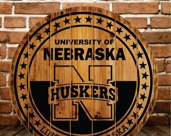 Nebraska Cornhuskers Rustic Sign - BOGO FREE (Ends Today)