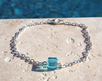 I Blue charm bracelet