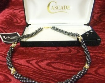 Cascade  Rope Style Necklace and Matching Earrings (boxed)