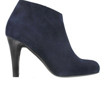 20% OFF Coupon, Navy blue ankle boots, Women leather boots, Shoes from Italy, Blue booties, Designed in Paris, Handmade in Italy, Mia