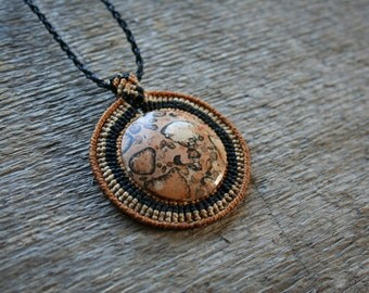 Necklace color Earth macrame