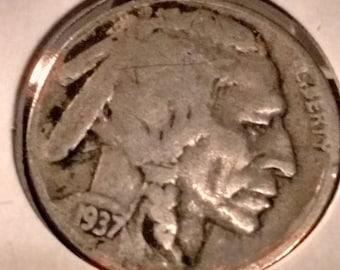 1937 d buffalo nickel lot 127
