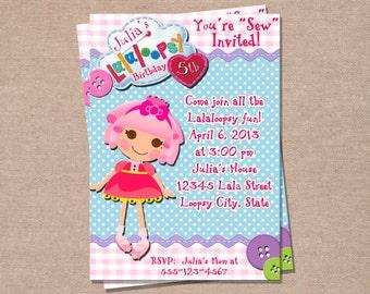 Cumpleaños de lalaloopsy invitación - cumpleaños de Lalaloopsy - fiesta Lalaoopsy - invitaciones de niños - niñas cumpleaños Invita una