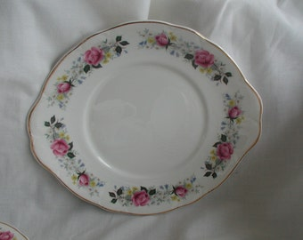 Vintage Mayfair Fine Bone China Sandwich/Cake Plate Rose Bud Design