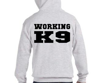 WORKING K9 Full Zip Hoodie
