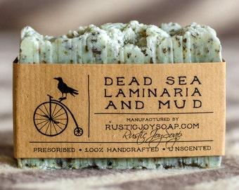 Dead Sea Mud and  Laminaria Soap- All Natural Soap,Handmade Soap,Dead Sea Mud, Laminaria Soap,anti-cellulite soap,Spa Soap,Unscented Soap.
