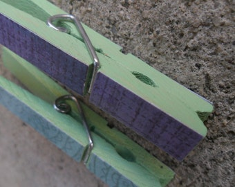 Light Blue and Lavender Clothespins