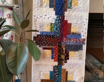 Log Cabin Quilt Table Topper