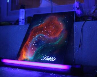 "Blacklight ""Hubble"" Painting - 18x24"
