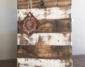 4x6 rustic stripped picture block