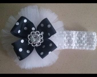Tulle and ribbon Headband