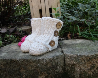 Button Wrap Booties
