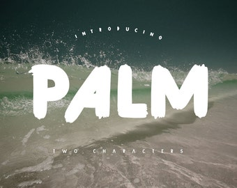 Palm Brush Font with Three Font Include Free Typeface Awesome Download Digital