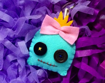 Lilo and Stitch's Voodoo Felt Doll Keychain