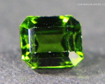 Chrome Diopside, faceted, Russia.  0.96 carat