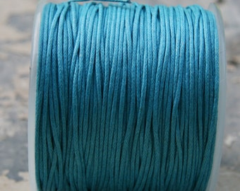 Blue Waxed Cotton Cord (1mm) 10 m- 11 yards S 40 043