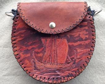 Hebridean Birlinn Leather Day Sporran