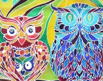 Glass painting, Glass art, Glass wall art, Glass paint, Owl decor, Owl wall art, Hand painted glass, Acrylic glass, Acrylic painting glass.