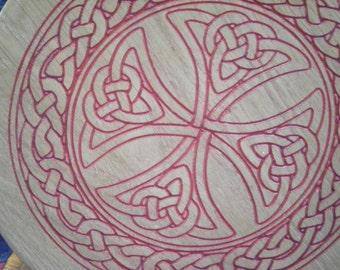Celtic Carved Oak