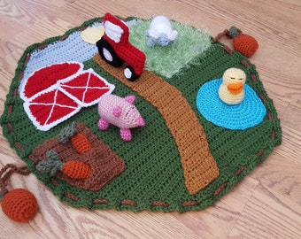 Crochet Farm Playmat