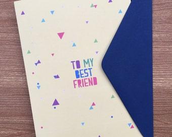 To my best friend card