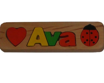 WOODEN PUZZLE NAME - Ava