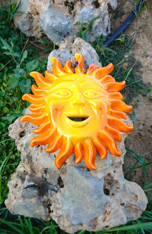 Wall ceramic sun large, hanging sun, greek sun, special decoration ...