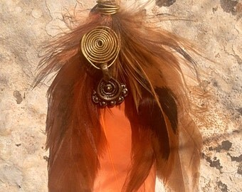 Hand made feather earring