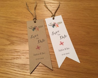 Rustic Save the Date Bookmarks / Cards with Envelopes - Wedding Invitations