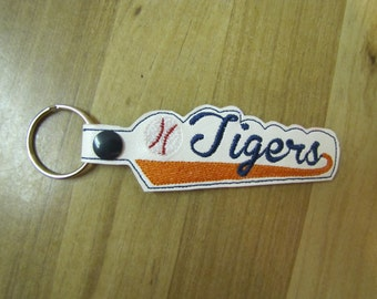Detroit Tigers Baseball Key Fob
