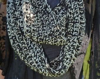 Oversized Chunky Infinity Crochet Scarf