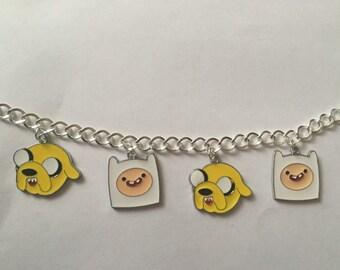 Adventure Time Finn And Jake Charm Bracelet