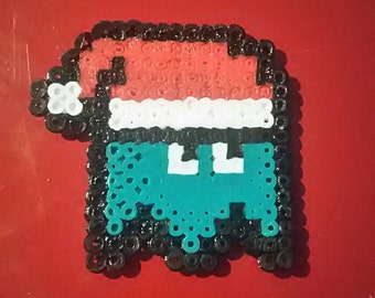 Teal Blue Packman Christmas Ghost