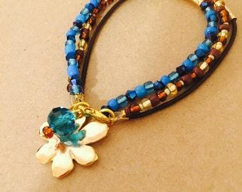 Indulgence Blue Brown Bracelet