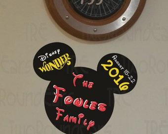 Disney Cruise Line Stateroom Door Family Magnet
