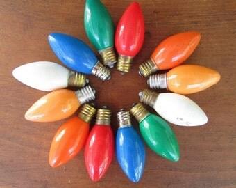 christmas tree light bulbs vintage large colored lights 12 - Colored Light Bulbs