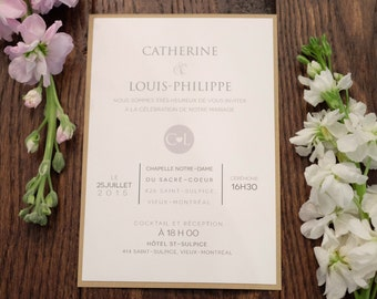 Rustic Wedding Invitation, Rustic Wedding Invitations, Rustic Invitation, Kraft Wedding invitation, Kraft invitation, Kraft Invitations,