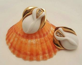 K.J.L. For Avon Rose Earrings