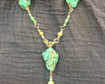 Wire-wrapped Turquoise #1