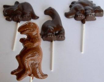 Chocolate Dinosaur Lollipops (12), Chocolate Dinosaur, Chocolate Dinosaur Favors, Dinosaur Party Chocolates, Dinosaur Chocolate Candy, Candy
