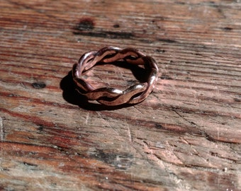 Bronze Ring braided Viking Celtic medieval