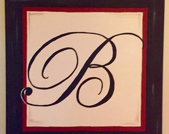 Hand painted Initial Canvas (12x12)