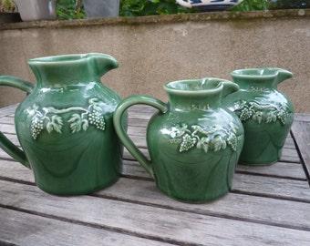 jug jug jar terracotta ceramic varnish sandstone of France