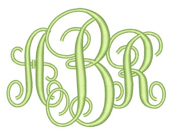 3 Size Interlocking Monogram 3 Letters Embroidery Font BX fonts Embroidery Fonts, Machine Embroidery Designs - INSTANT DOWNLOAD