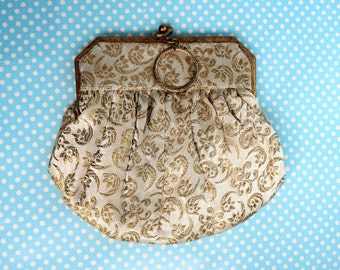 French brocade little evening bag from the 1950s.