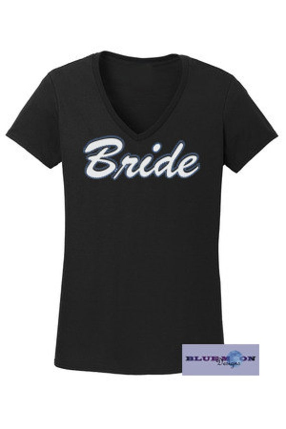 Bride Rhinestone and Vinyl T-Shirt Made to order