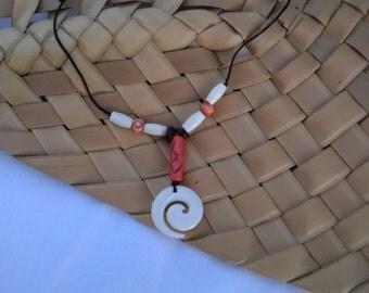 maori hama serious bone pendant