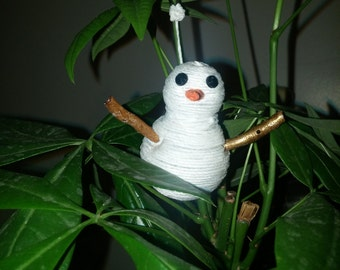 Bamboo/Hemp cord snowman ornament
