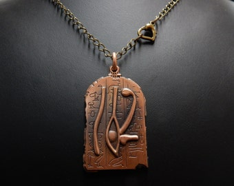 Gem vintage, necklace, pendant, Necklace, for, sign Egyptian no. 0572